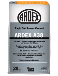 ARDEX A 38 cement screed