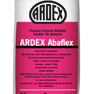 ARDEX Abaflex polymer modified cement-based tile adhesive