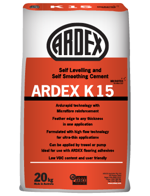 ARDEX K 15 Micro Rapid-Drying Self-Levelling Smoothing Compound