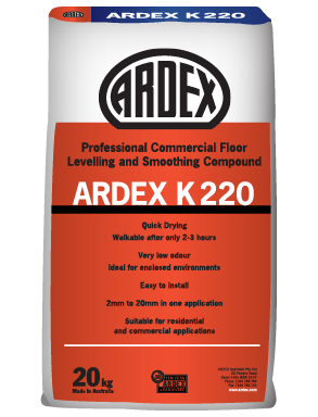 ARDEX K 220 Commercial Floor Levelling and Smoothing Compound
