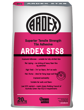 ARDEX STS 8 High tensile strength tile adhesive