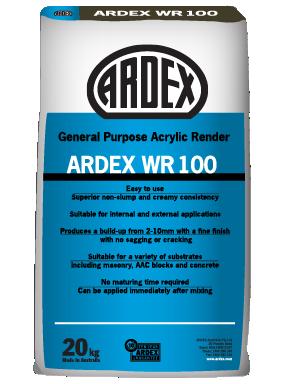 ARDEX WR 100 acrylic render