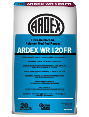 ARDEX WR 120 FR fibre-reinforced, acrylic render