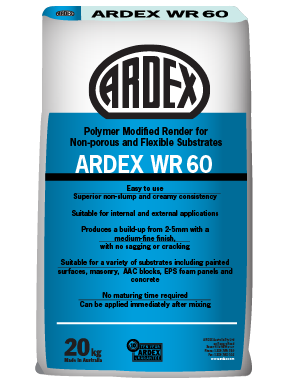 ARDEX WR 60 fine-medium grade render