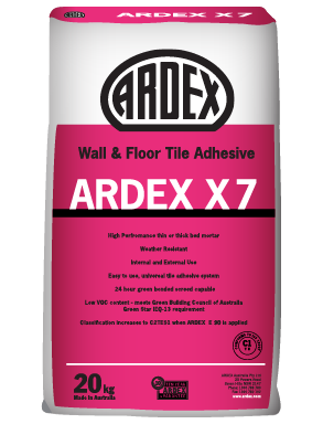 ARDEX X 7 cement-based non-slump wall and floor tile adhesive