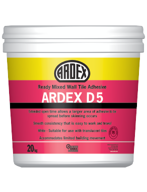 ARDEX D 5 Ready mixed, thin bed, interior wall tile adhesive