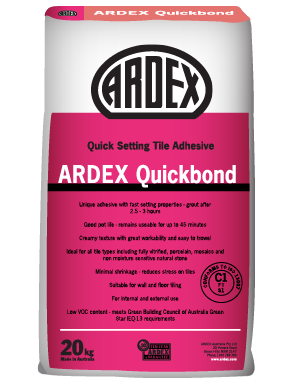 ARDEX Quickbond Fast setting wall and floor tile adhesive