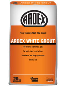 ARDEX White Fine textured, smooth, bright white wall grout